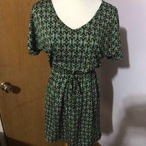 Patterned print dress